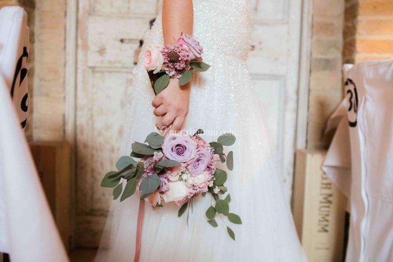 Bouquet e bracciale coordinati