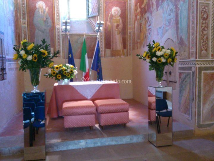 Ricevimento Matrimonio Toscana : Ricevimento e cerimonia in toscana con girasoli come