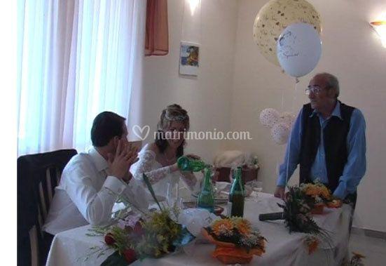I Gill: Domenico parla con gli sposi