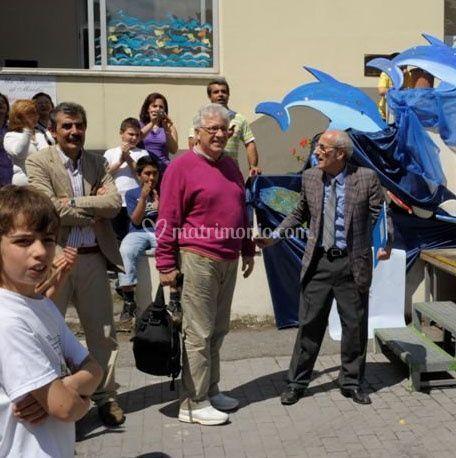 Domenico accoglie Peppino di Capri