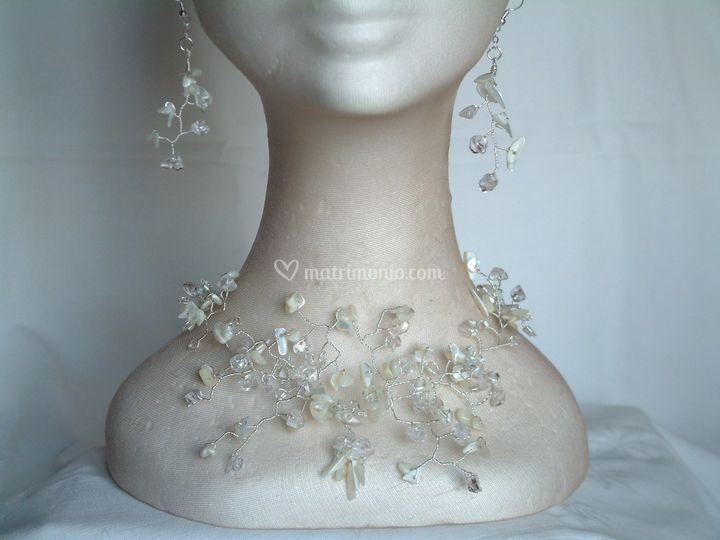 Collana Principessa con peitre e cristalli