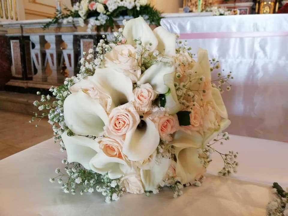 Bouquet Sposa Rose E Calle.Bouquet Calle E Rose Di Roxana Fiori E Allestimenti Foto 114