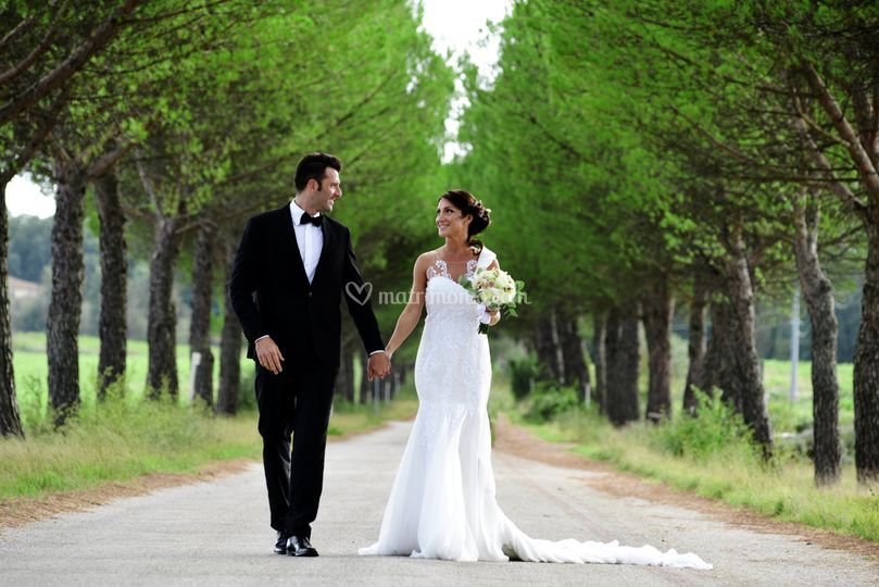 Viali alberati matrimonio