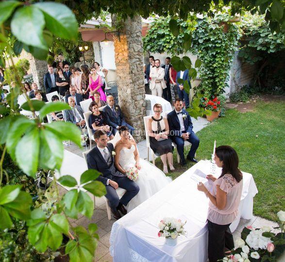 Celebrazione in giardino