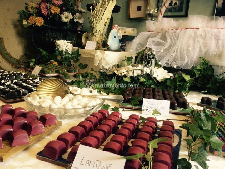 Sweet table al cioccolato
