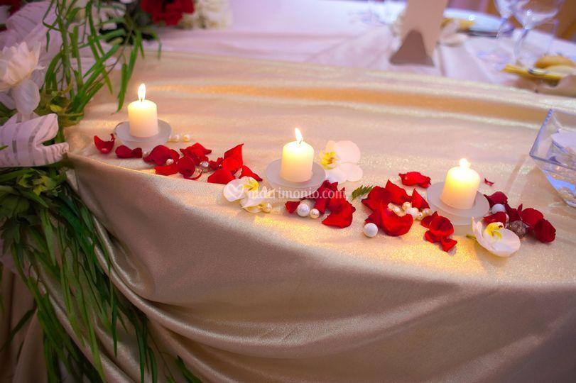 Dettagli tavolo sposi 2