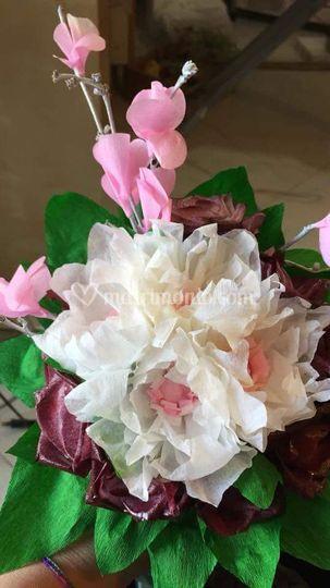 Bouquet fiori d carta handmade