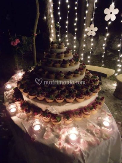La torta con cupcakes