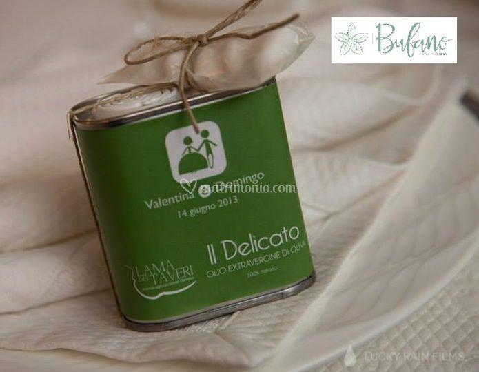 Segnaposto olio d'oliva extravergine