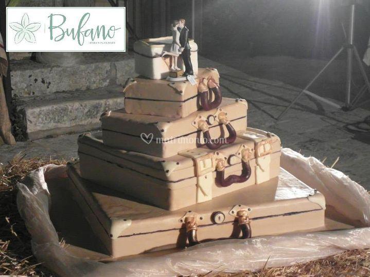 Torta nuziale valigia