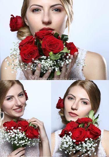 Sposa rose rosse
