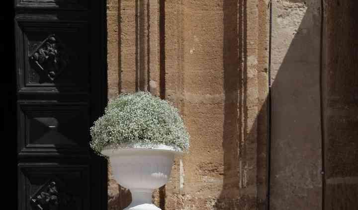 Addobbo esterno chiesa