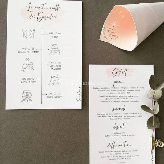Timeline e menu