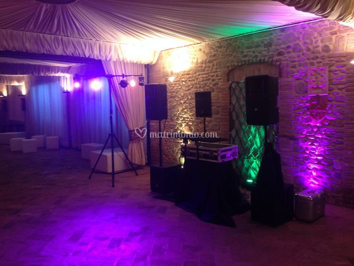 Party Wedding Top Audio Luci