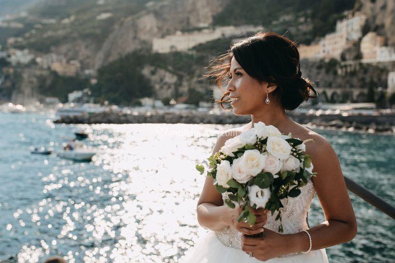 Bride in Amalfi