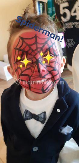 Trucco spiderman!