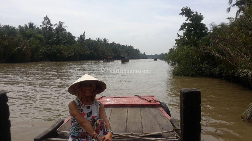 Fiume mekong. Vietnam