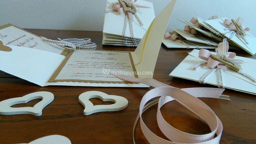 Dettaglio cuore in legno