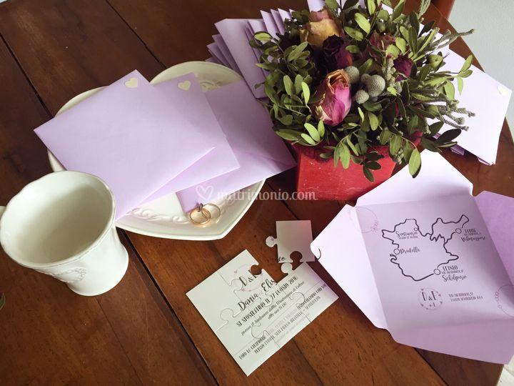 Partecipazioni di nozze sagoma