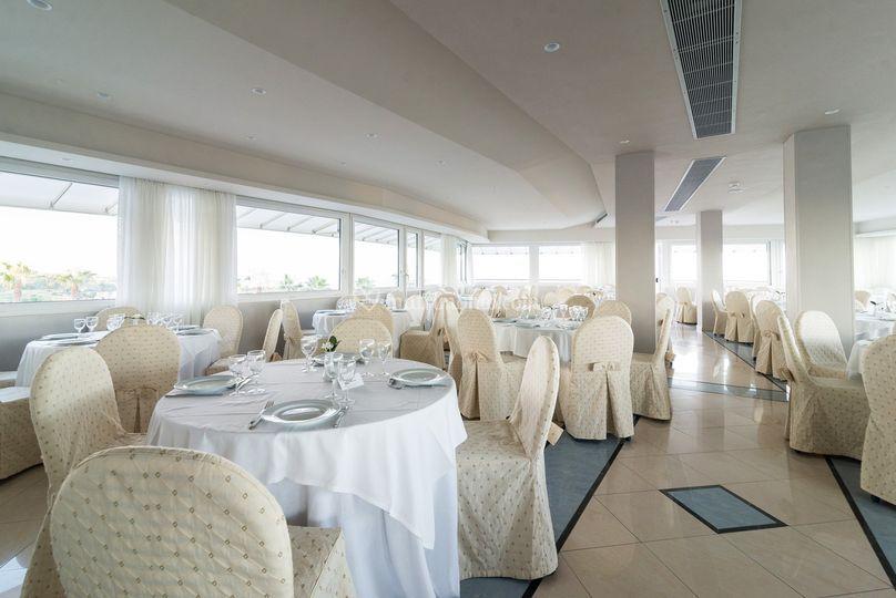 Sala ricevimenti panoramica