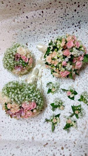 Bouquet sposa , damigelle