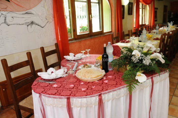 Tavolo per Sposi personalizzat