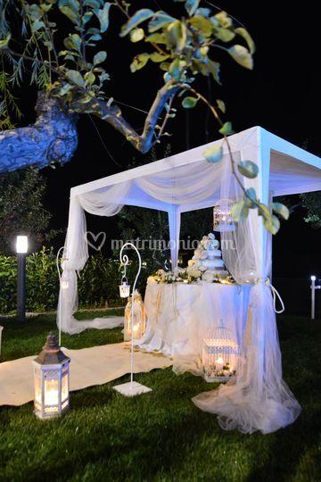Scenografia serale wedding cak
