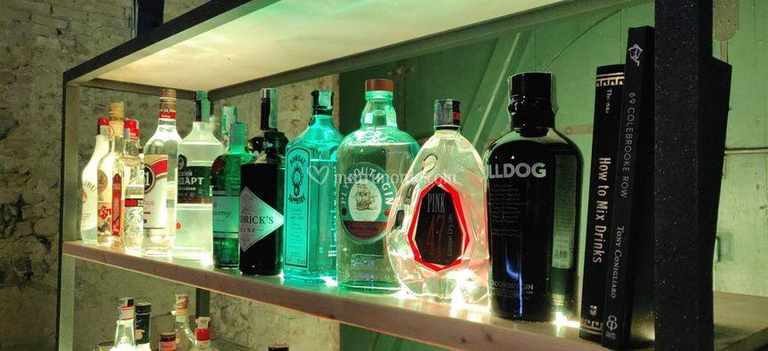 Dettagli bottigliera