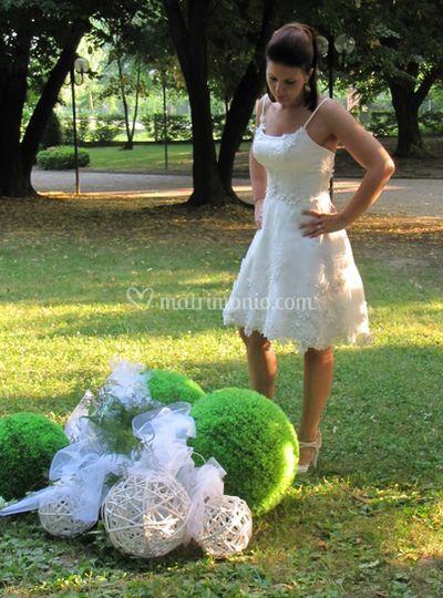 La sposa e decorazioni