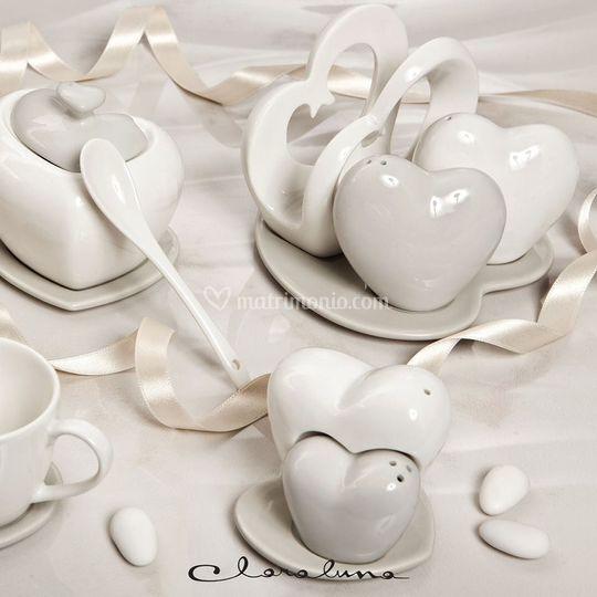 Linea cuore in porcellana