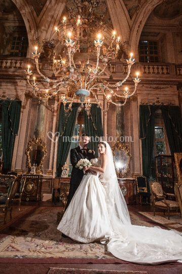 Sposi nel salone