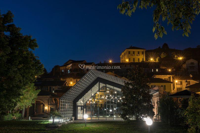 Villa Balbiano in notturna