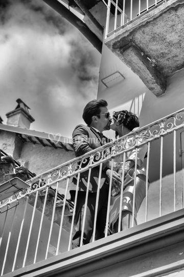 Sposi al balcone