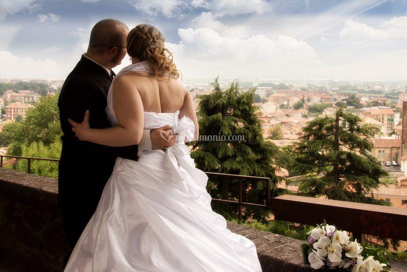 Sposi con panorama