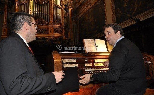 Con il baritono A. Di Giosafat