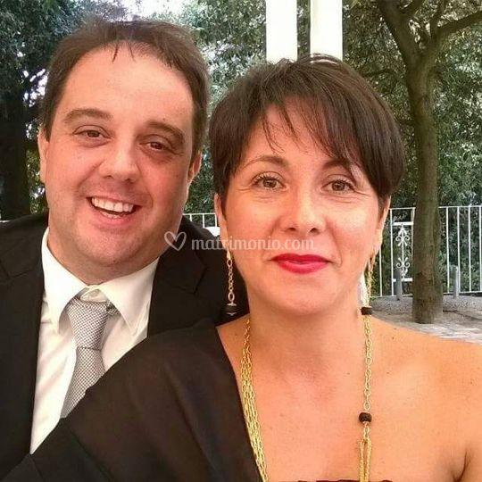 Con il soprano M. Falconi