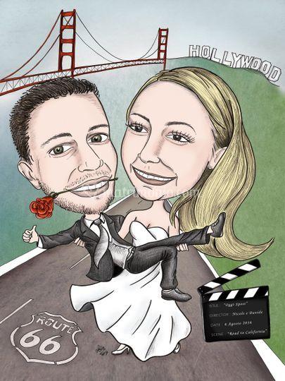 Caricatura Tableau de Mariage