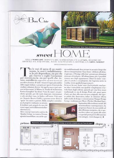 Articolo su rivista nozze in di casa da sogno foto 27 for Rivista di case da sogno