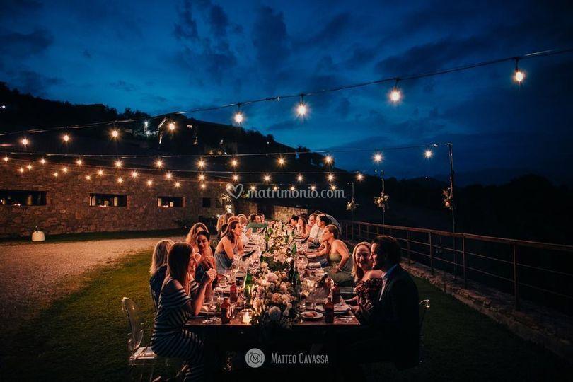 Cena sotto il cielo stellato