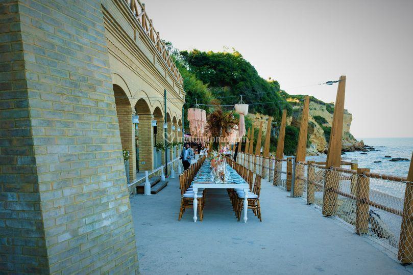 Banchetto fronte spiaggia