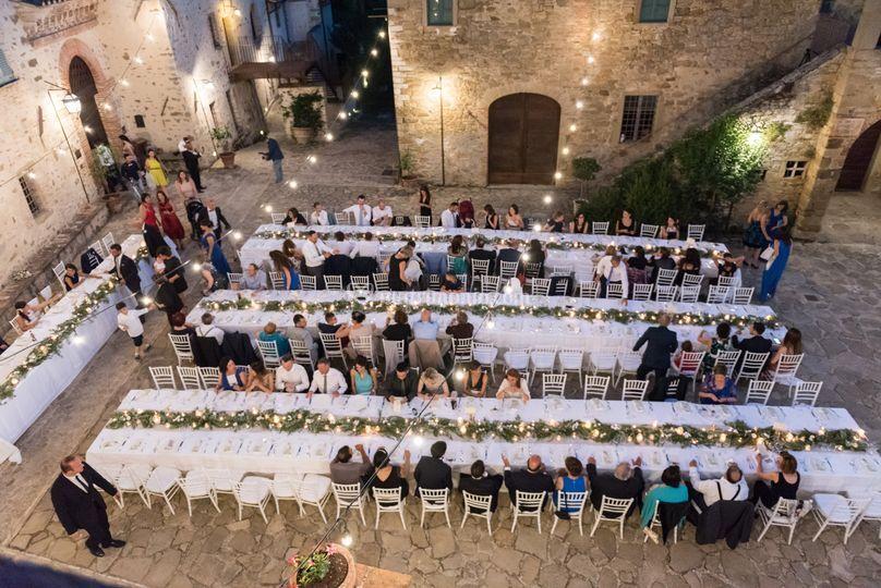 La cena in piazza