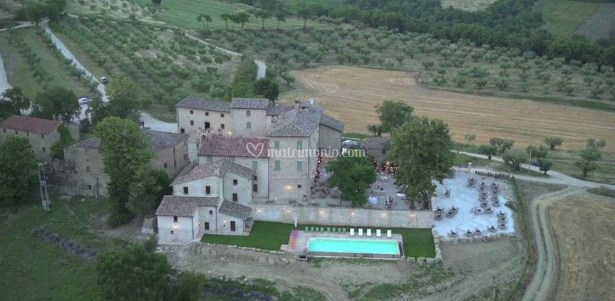 Aeral view of Medieval Village di Borgo Colognola