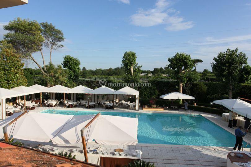 Vista della piscina di prestige sporting club foto 7 for Piantina della piscina