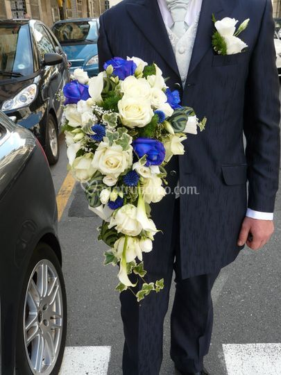 Bouquet rose blu