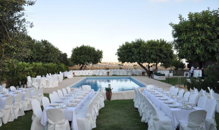 Milleventi for Addobbi piscina per matrimonio