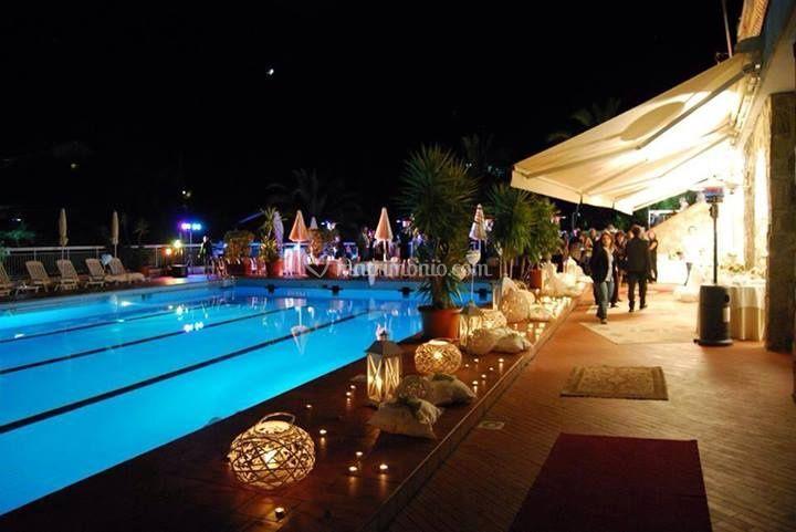 Night piscina