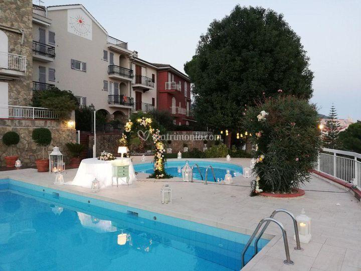 Arco bordo piscina