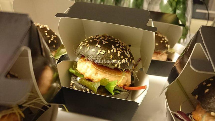Black Burger di Salmone