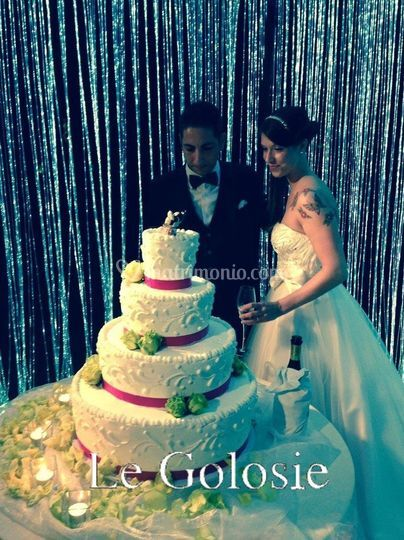 Shiny Wedding Cake