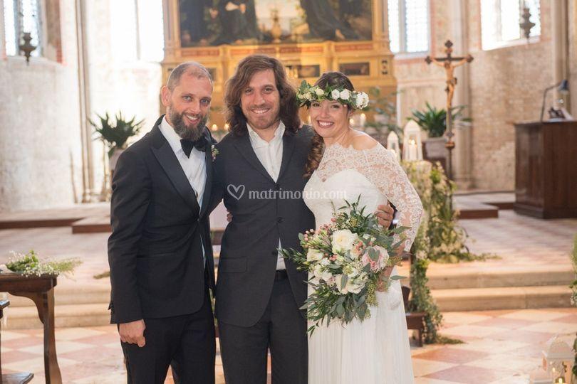 Con gli sposi Chiesa S. Elena